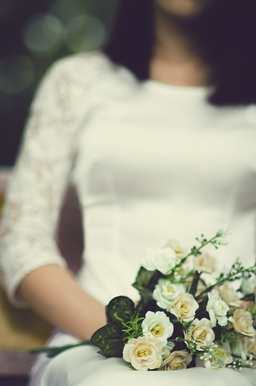 voltaire weddings. Wedding. Attractive bride with bouquet