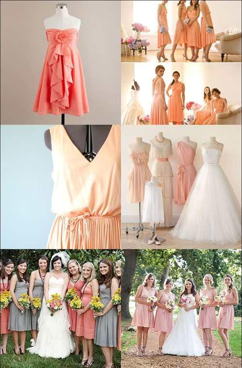 Peach wedding theme voltaire weddings bridesmaids wedding reception junglespirit Images