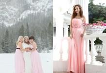 pink braidsmaids