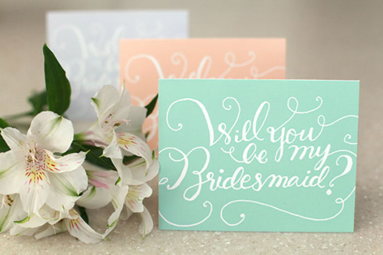 Popping the Question to Your Bridesmaids