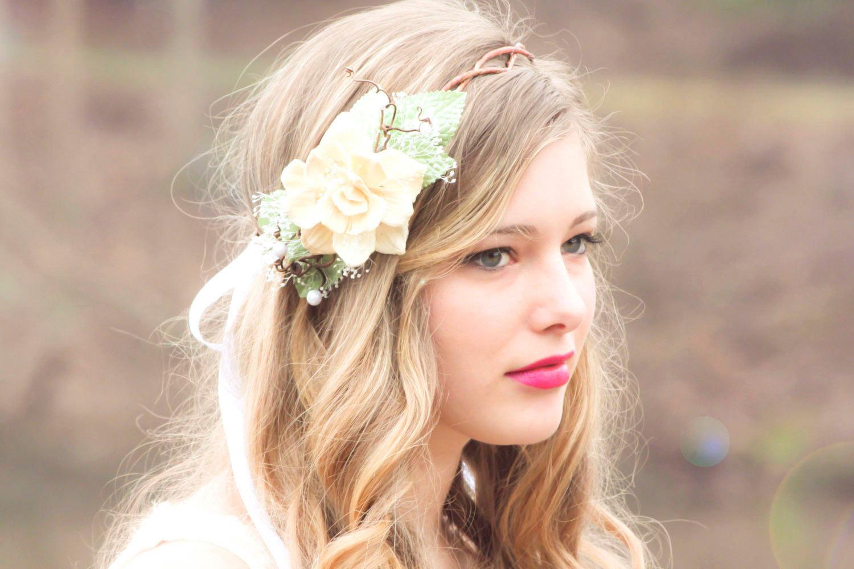 Floral wedding crowns voltaire weddings floral wedding crown izmirmasajfo
